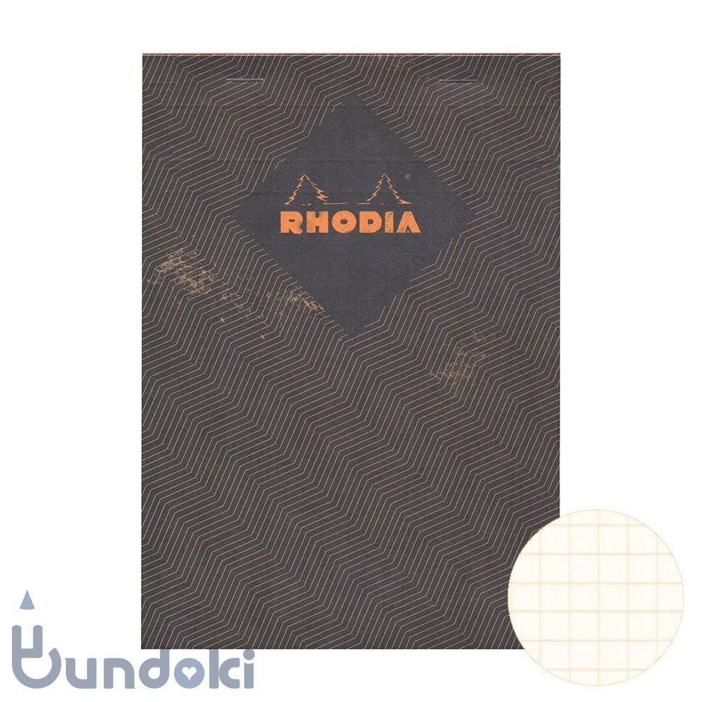 【RHODIA/ロディア】COLLECTION HERITAGE/ブロックロディア No.16 (シェブロン/ブラック)