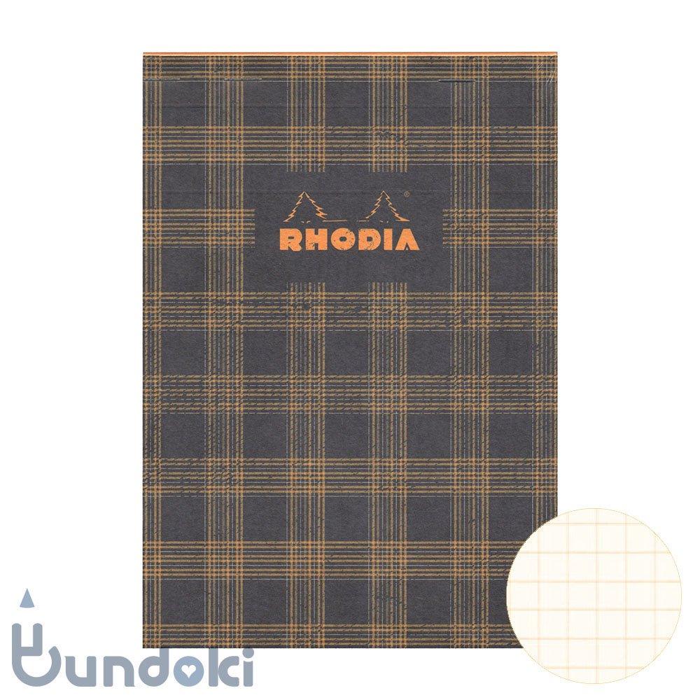 【RHODIA/ロディア】COLLECTION HERITAGE/ブロックロディア No.16 (タータン/ブラック)
