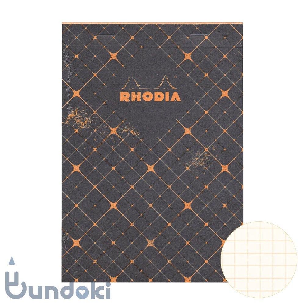 【RHODIA/ロディア】COLLECTION HERITAGE/ブロックロディア No.16 (カドリーユ/ブラック)