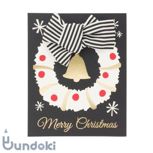 【Mark's/マークス】リボン クリスマスカード (リース)