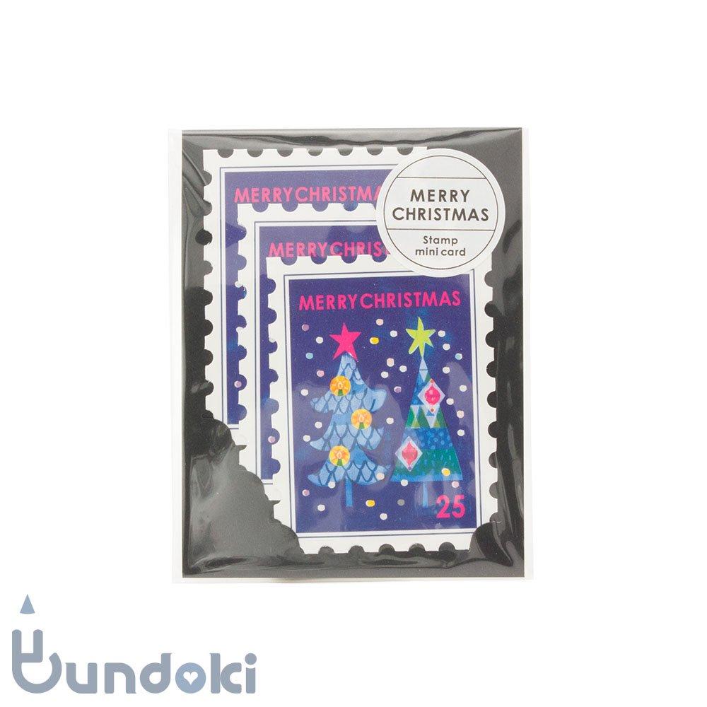 【Mark's/マークス】スタンプ3枚セット・ミニ/クリスマスカード(ツリー)