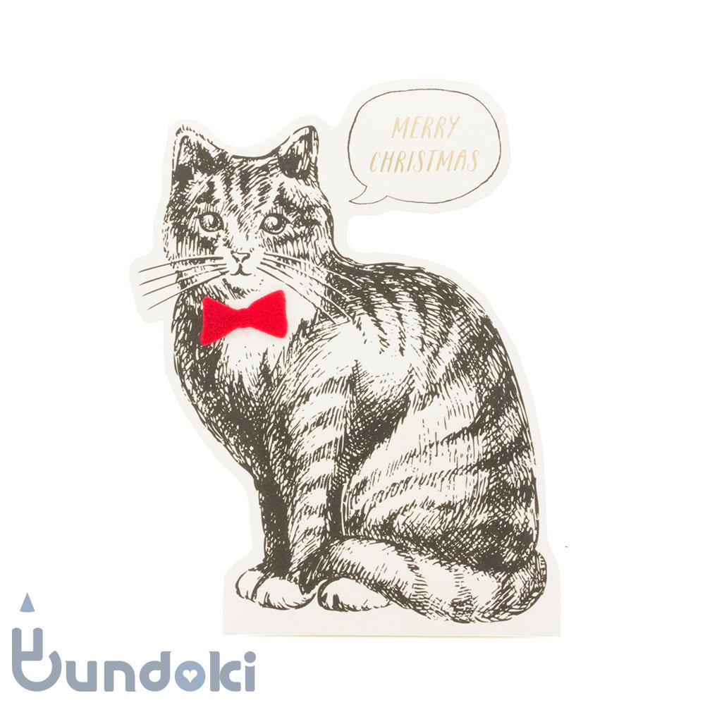 【Mark's/マークス】ビンテージアニマル・スタンド/クリスマスカード (ネコ)