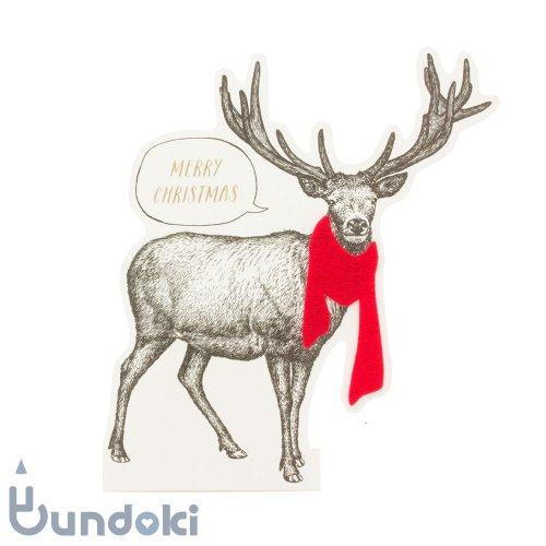 【Mark's/マークス】ビンテージアニマル・スタンド/クリスマスカード (トナカイ)