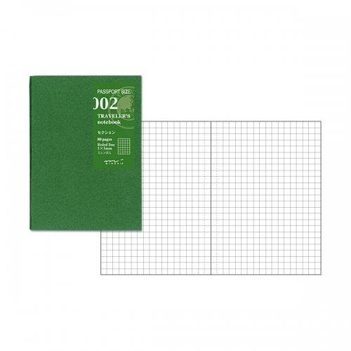 【MIDORI/ミドリ】トラベラーズノートパスポートサイズ リフィル セクション/002