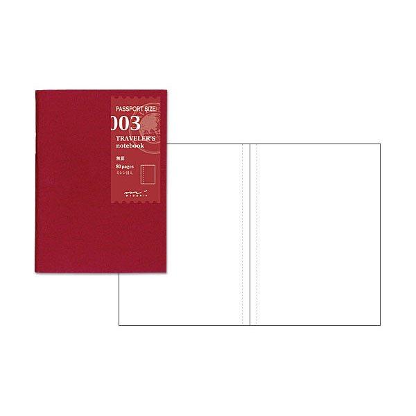 【MIDORI/ミドリ】トラベラーズノートパスポートサイズ リフィル 無罫/003