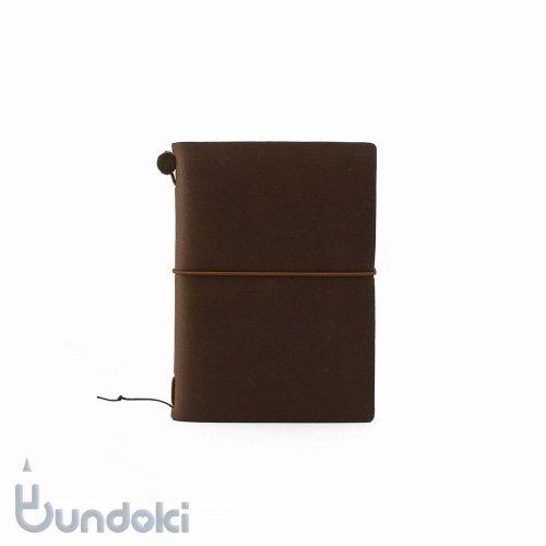 【MIDORI/ミドリ】トラベラーズノートパスポートサイズ(茶)