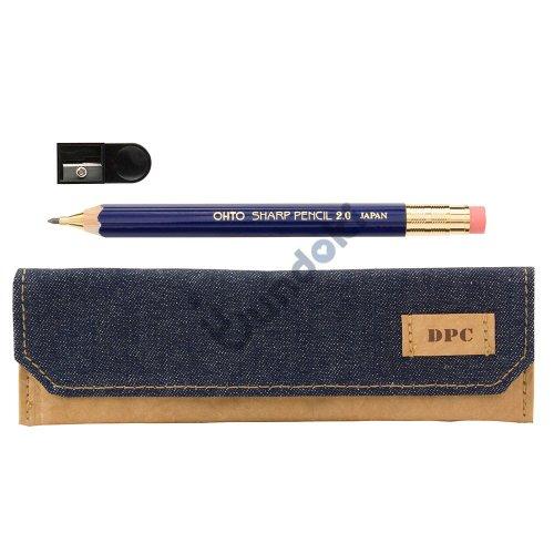 【OHTO/オート】木軸シャープ2.0mm&ペンケースセット (ブルー)