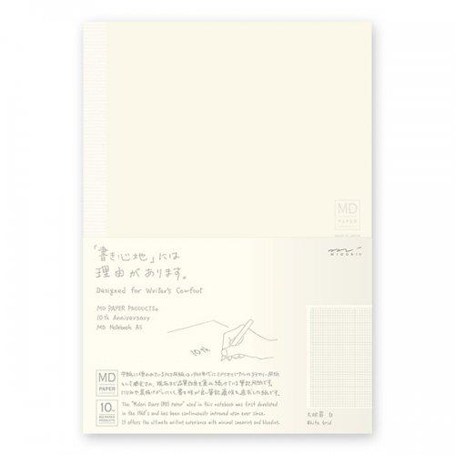 【MIDORI/ミドリ】MDノート<A5> 10th 方眼罫 白