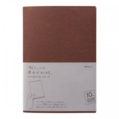 【MIDORI/ミドリ】MDノートカバー<A5> 10th 紙 こげ茶