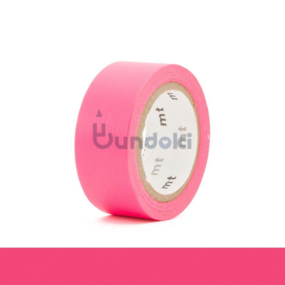 【カモ井加工紙/KAMOI】mt fab 蛍光インキテープ・蛍光ピンク