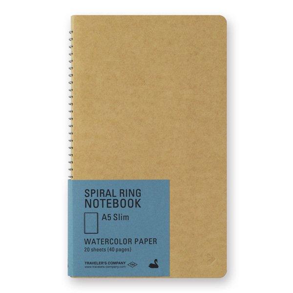 【MIDORI/ミドリ】TRC スパイラルリングノート<A5スリム> 水彩紙