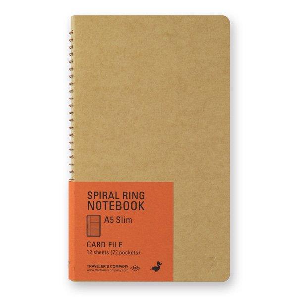 【MIDORI/ミドリ】TRC スパイラルリングノート<A5スリム> カードファイル