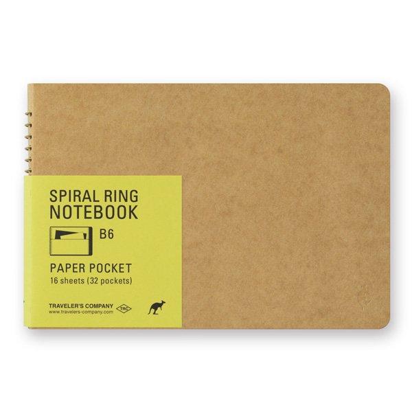 【MIDORI/ミドリ】TRC スパイラルリングノート<B6> ペーパーポケット