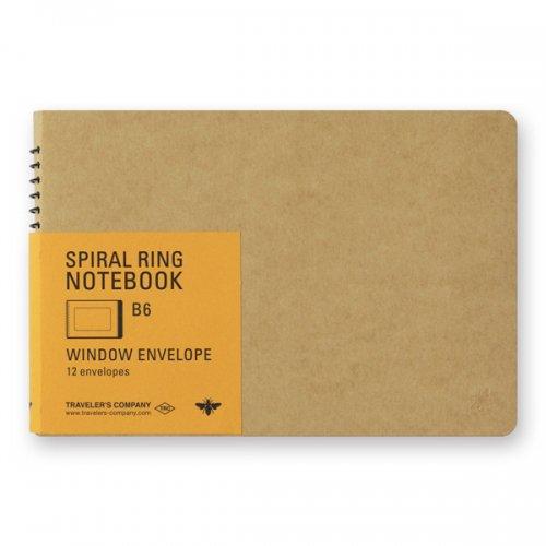 【MIDORI/ミドリ】TRC スパイラルリングノート<B6> 窓付封筒