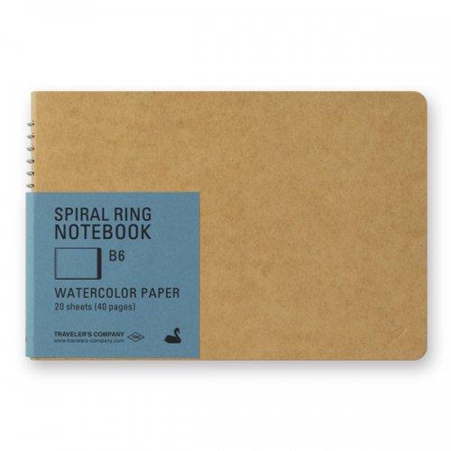 【MIDORI/ミドリ】TRC スパイラルリングノート<B6> 水彩紙