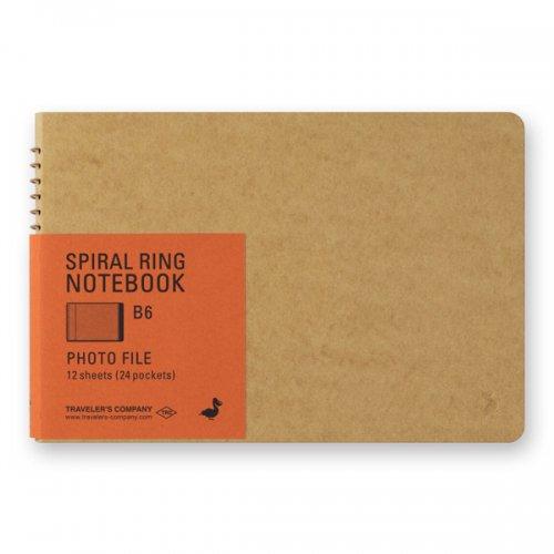 【MIDORI/ミドリ】TRC スパイラルリングノート<B6> フォトファイル