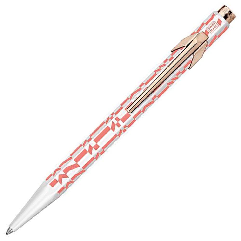 【CARAN D'ACHE/カランダッシュ】849 アレキサンダー・ジラードボールペン (ピンク/チェックストライプ) 【限定品】
