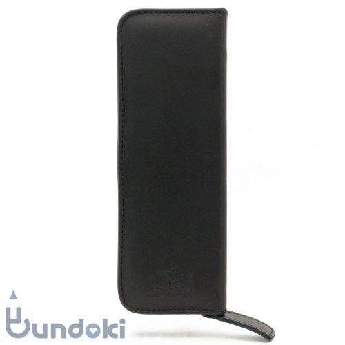 【VIKING/バイキング】Klassik Original ジッパーペンケース (スムースレザー・ブラック)