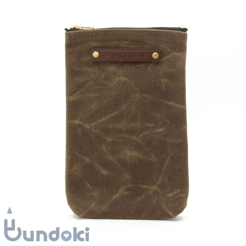 【Peg and Awl】The Scribbler Pouch (Truffle)