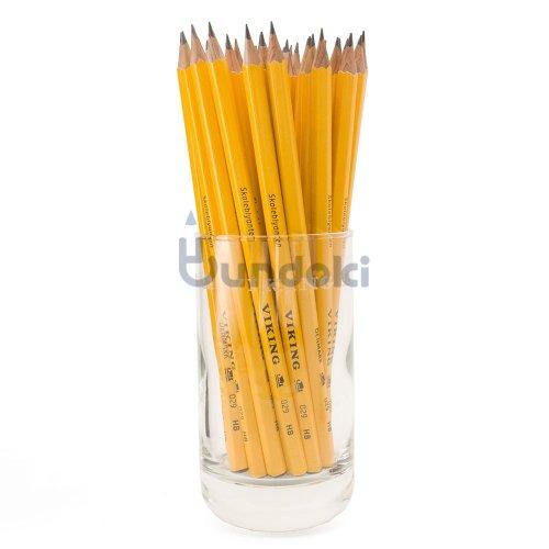 【VIKING/バイキング】SEKSORGTREDIVE / Skoleblyanten イエロー鉛筆36本限定グラスセット