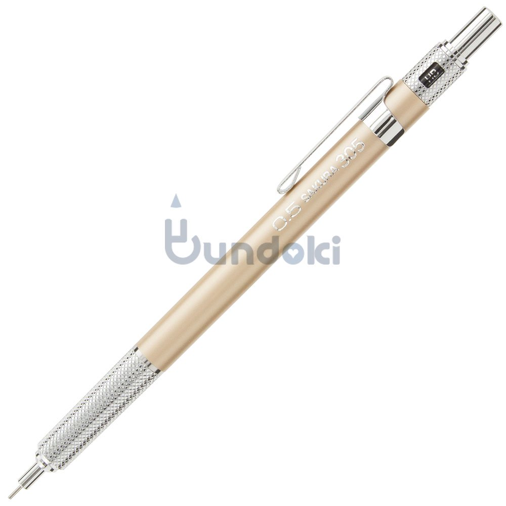 【SAKURA/サクラ】製図用シャープペンシルXS-305 (0.5mm/ゴールド)