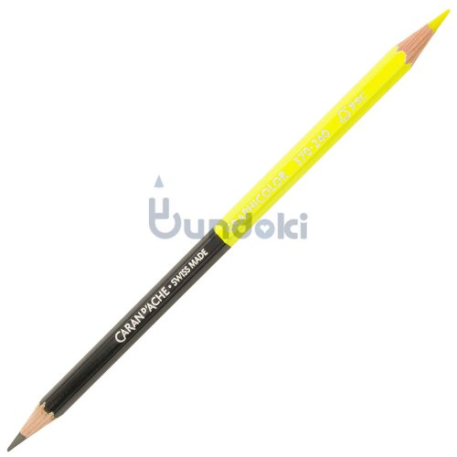 【CARAN D'ACHE/カランダッシュ】Graphicolor / グラフィカラー・バイカラー鉛筆 (HB/蛍光イエロー)