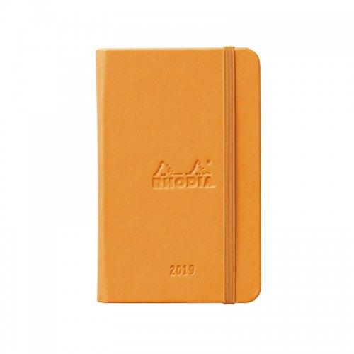 【RHODIA/ロディア】ウェブプランナー2019年版 ウィークリーバーチカル 9x14・A6 (オレンジ)【ネコポス送料無料】