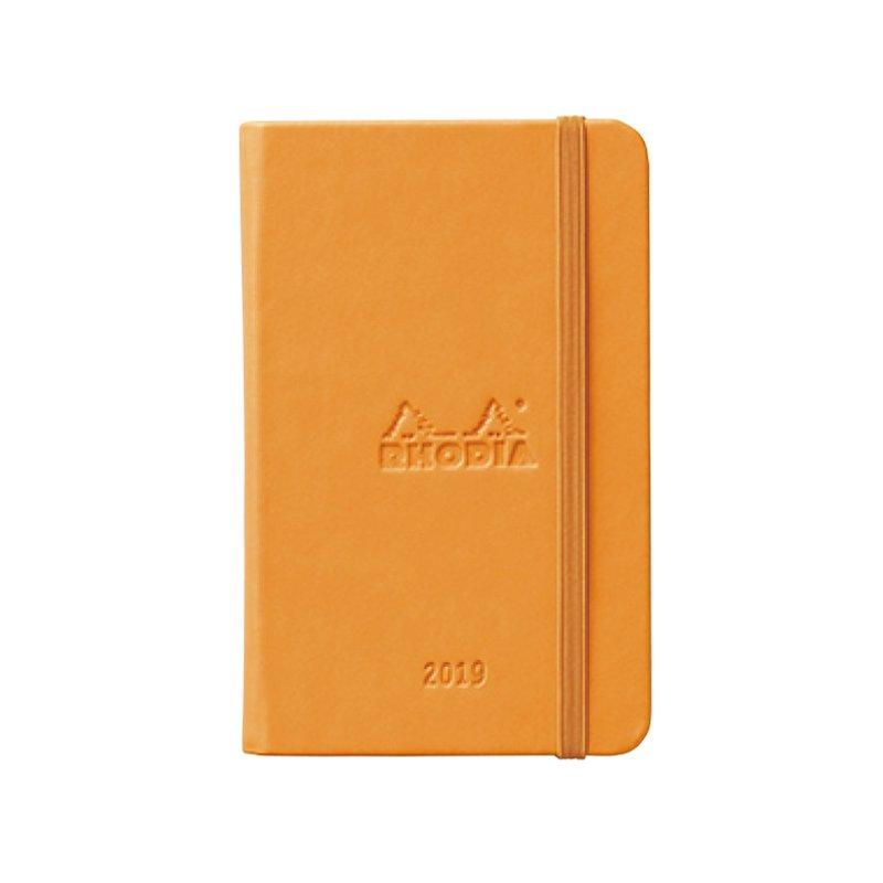 【RHODIA/ロディア】ウェブプランナー2019年版 ウィークリーホリゾンタル 9x14・A6 (オレンジ)【ネコポス送料無料】