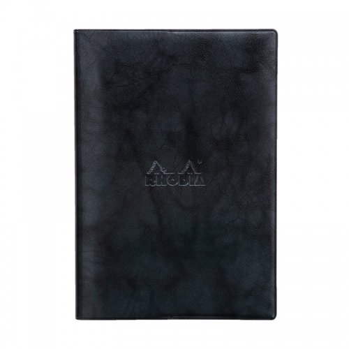 【RHODIA/ロディア】2019年マンスリーダイアリー with Cover ベーシック 15.3x21.8cm (ブラック)