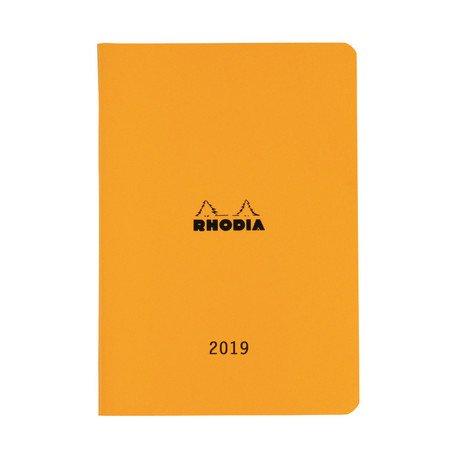 【RHODIA/ロディア】2019年マンスリーダイアリー 15.3x21.8cm・A5 (オレンジ)