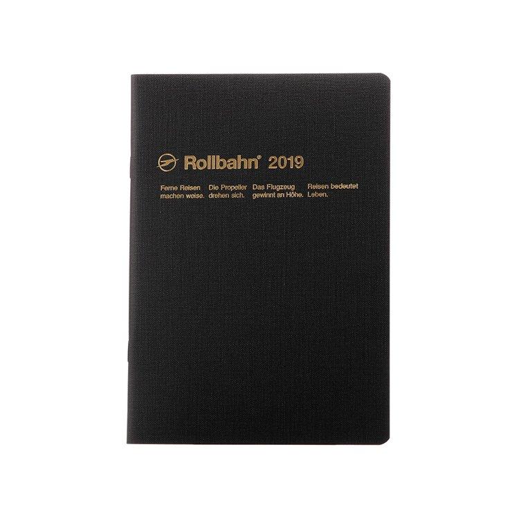【Delfonics/デルフォニックス】2019年 ロルバーンノートダイアリー テクスチャー・A5 (ブラック)
