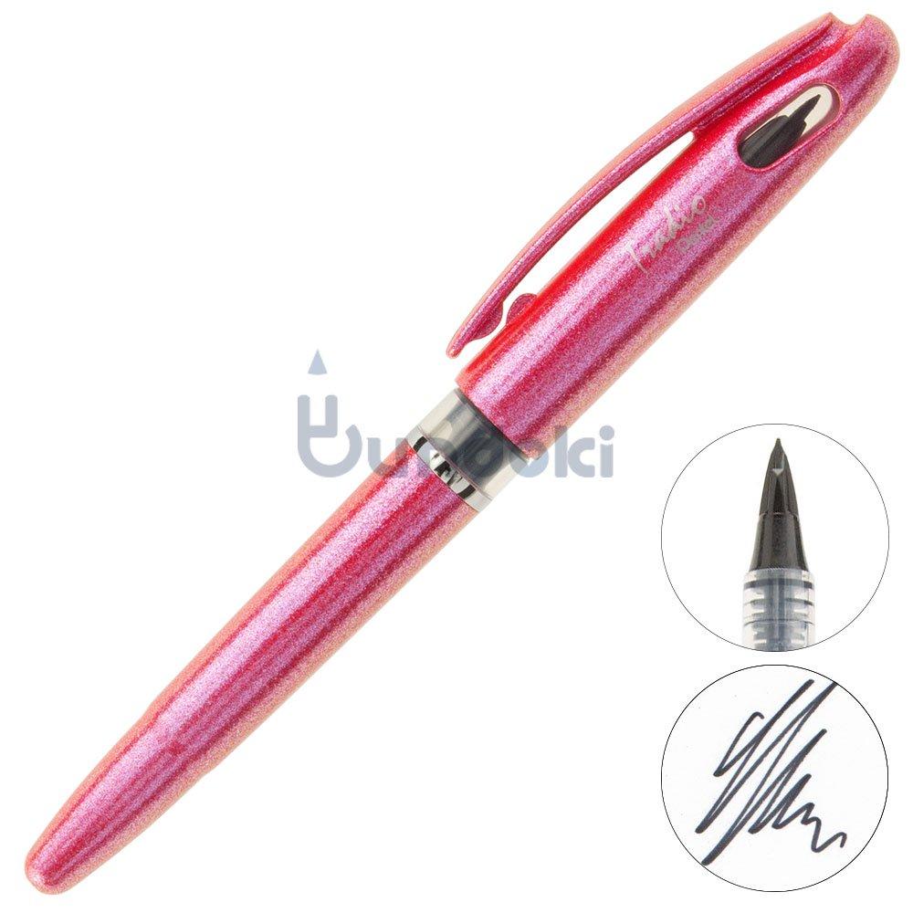【Pentel/ぺんてる】トラディオプラスティック万年筆/プラマン (ポピーレッド)