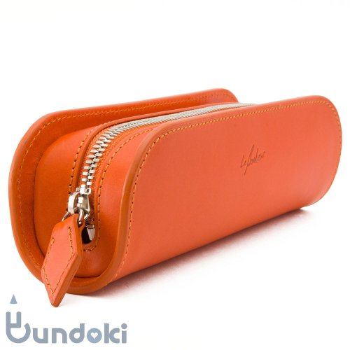 【Le Bonheur/ル・ボナー】デブ・ペンケース/ブッテーロ (オレンジ)