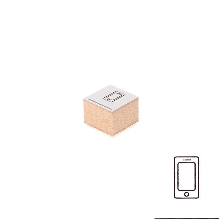 【Delfonics/デルフォニックス】ウッドスタンプ アイコン (B/スマートフォン)