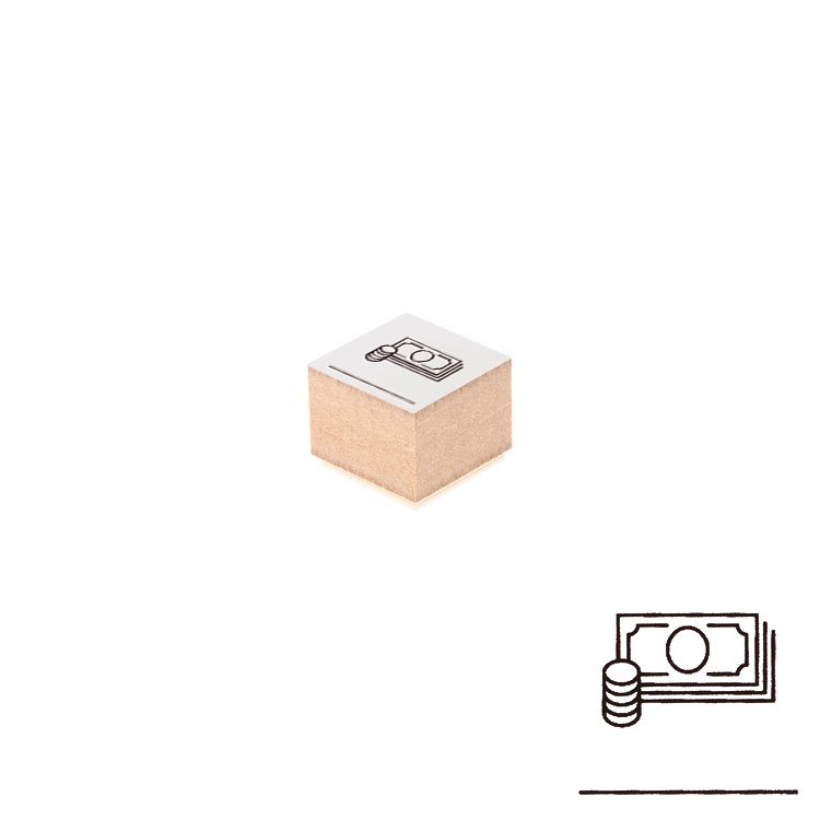 【Delfonics/デルフォニックス】ウッドスタンプ アイコン (C/マネー)