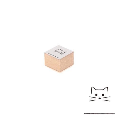 【Delfonics/デルフォニックス】ウッドスタンプ アイコン (E/ネコ)