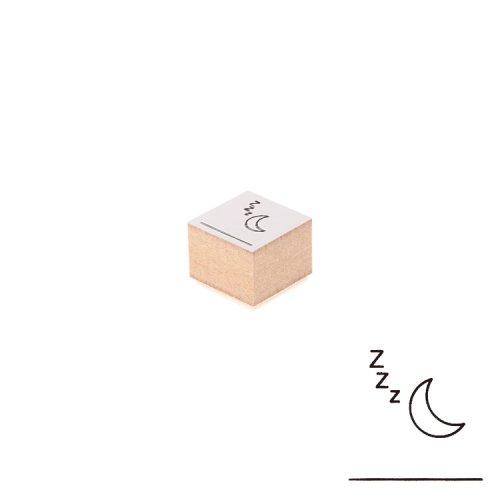 【Delfonics/デルフォニックス】ウッドスタンプ アイコン (I/月)