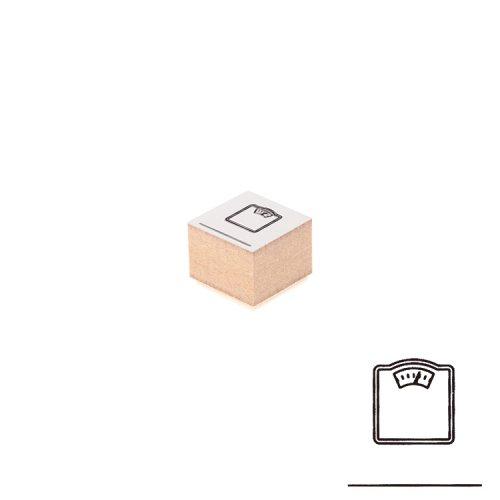 【Delfonics/デルフォニックス】ウッドスタンプ アイコン (J/体重計)