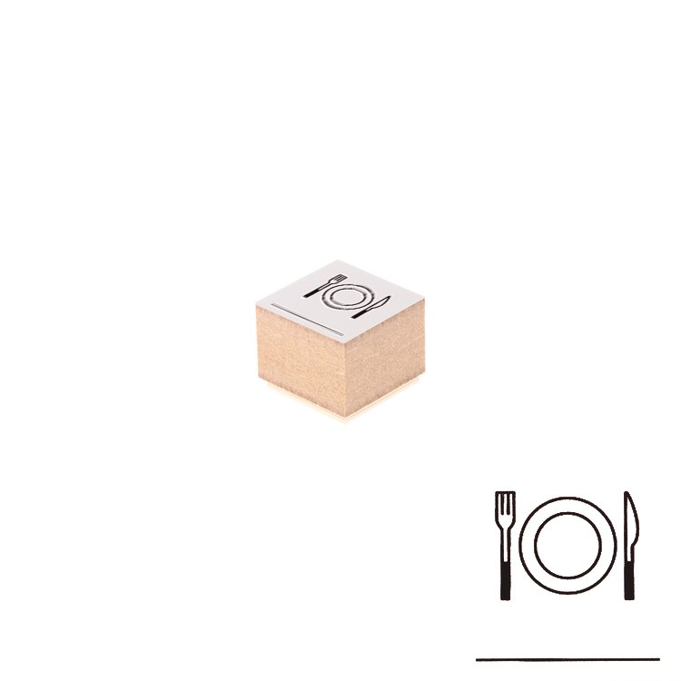 【Delfonics/デルフォニックス】ウッドスタンプ アイコン (K/食事)