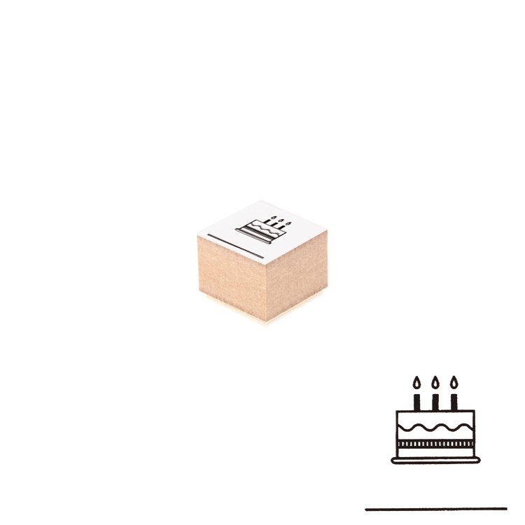 【Delfonics/デルフォニックス】ウッドスタンプ アイコン (L/ケーキ)