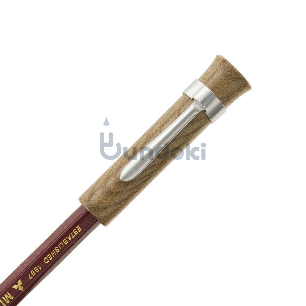 【CRAFT A × ブンドキ.com】オリジナル木製鉛筆キャップ(クリップ付き)/神代ニレ
