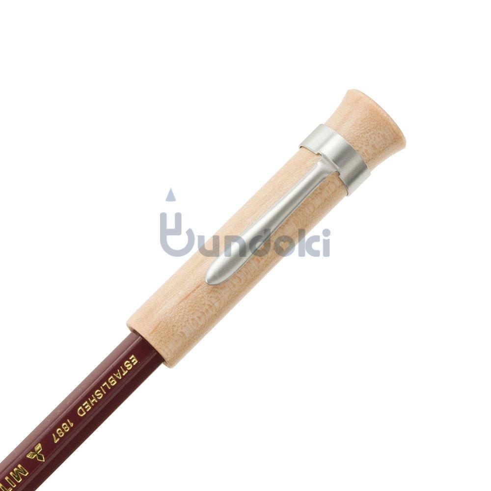 【CRAFT A × ブンドキ.com】オリジナル木製鉛筆キャップ(クリップ付き)/メープル杢