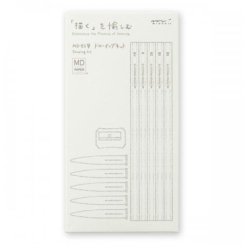 【MIDORI/ミドリ】MD鉛筆 ドローイングキット
