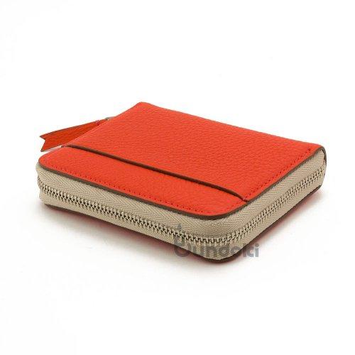 【カンダミサコ】Pocket Wallet (ネオンレッド)