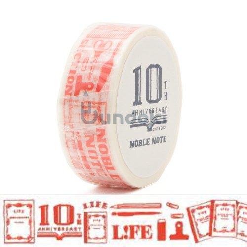 【LIFE/ライフ】ノーブル10th限定 マスキングテープ (朱)