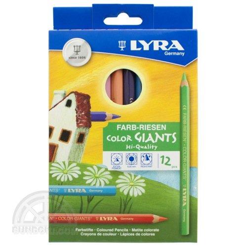 【LYRA/リラ】COLOR-GIANTS太軸六角色鉛筆(12色入り)3941120
