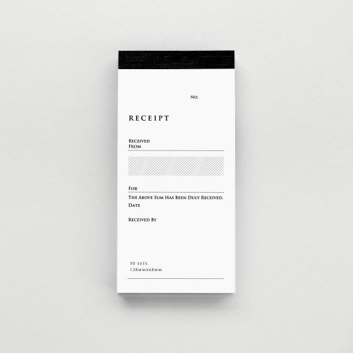 【KNOOPWORKS/クノープワークス】RECEIPT(英・複写)タテ