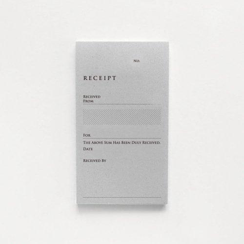 【KNOOPWORKS/クノープワークス】RECEIPT(英・単票)