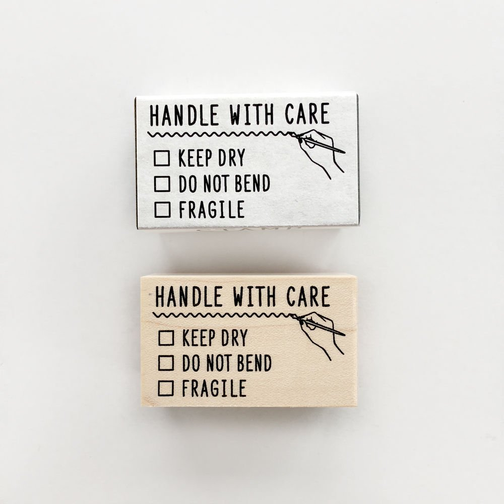 【KNOOPWORKS/クノープワークス】HANDLE WITH CARE スタンプ