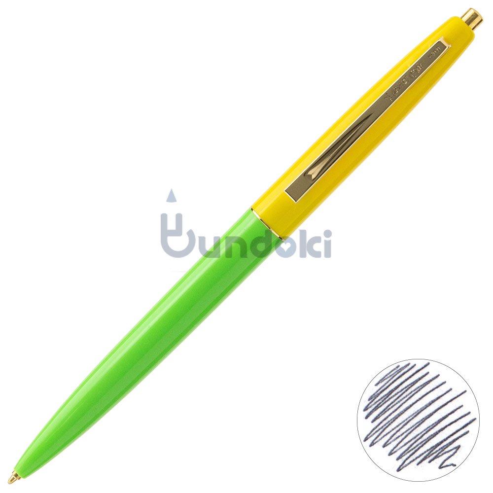 【BIC/ビック】クリックゴールドボールペン (アップルグリーン×イエロー)